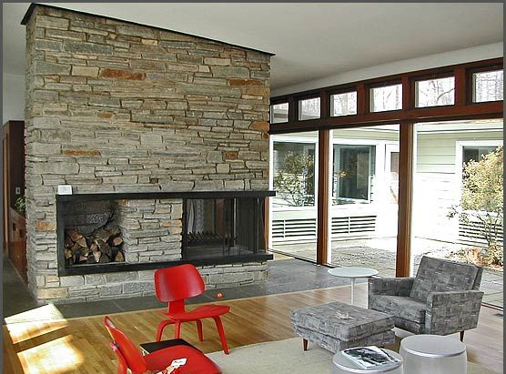 love this mcm fireplace! | Mad for mid century modern! | Pinterest ...