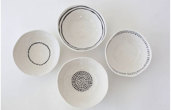 Kajsa Cramer's Dots and Stripes Bowls