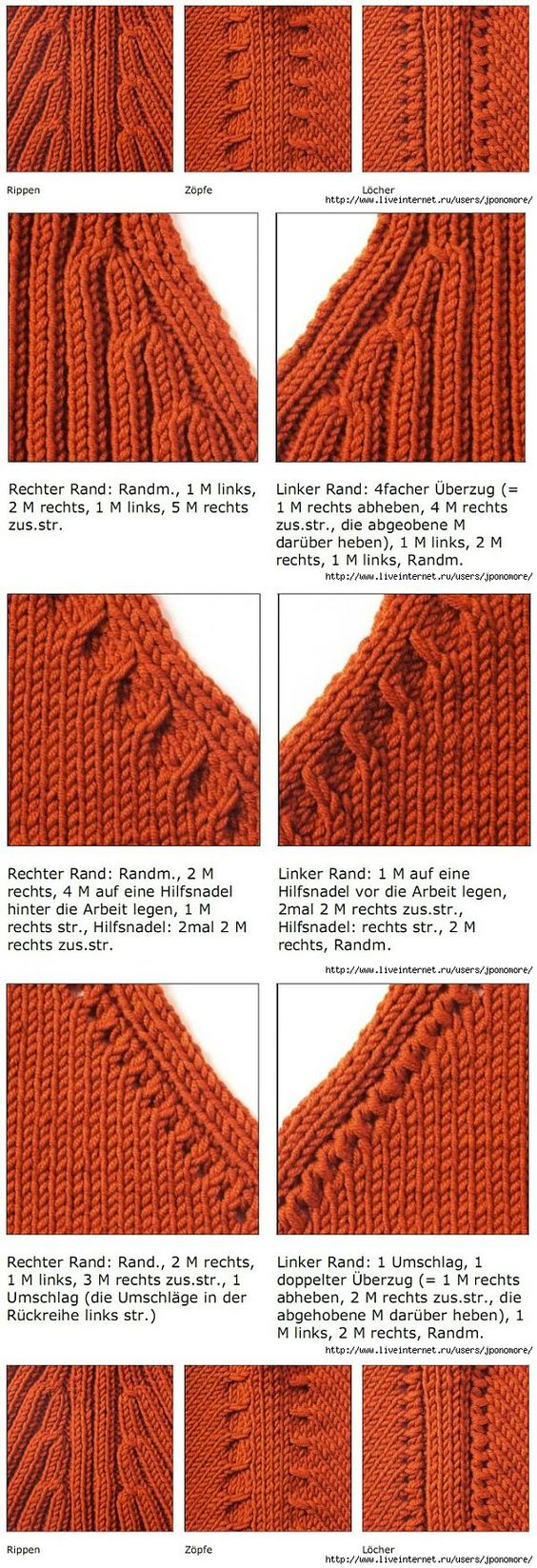 Knitting Ssk Instructions : Knitting sleeve and google translate