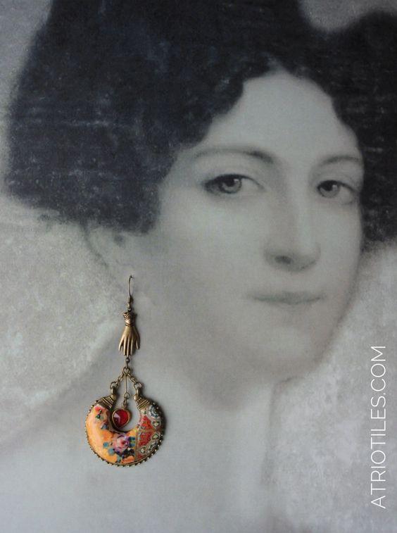 Antique Azulejo Tile Earrings by Átrio