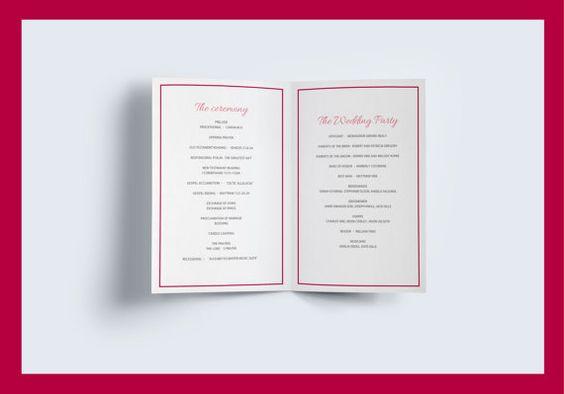 wedding booklet template wedding program by NicyaWedding on Etsy