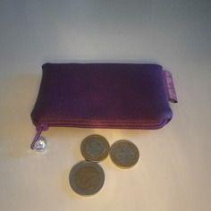 Rentrée scolaire - porte monnaie en simili cuir violet doublé coton imprimé…