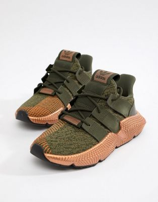 Image 1 of adidas Originals Prophere Trainers In Khaki And Copper ...