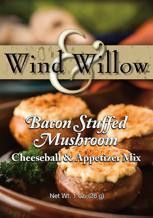 Wind & Willow's Bacon Stuffed Mushroom Cheeseball & Appetizer Mix.