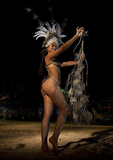 Lili Pate During Tapati Festival, Easter Island, Hanga Roa Chile: