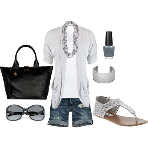 Summer Outfit: Summer Fashion, Summeroutfit, Summer Style, Spring Summer, Summer Outfits, Casual Outfits, Longer Shorts