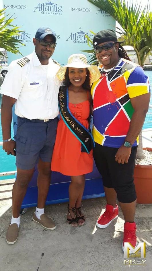 Mikey invited Miss Barbados UK for a dive with his partner Atlantis Submarines #MikeyMercer #BimIsBest