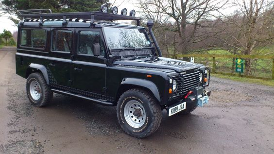 Landrover Defender Station Wagon. Seats 7 people. £22,315.