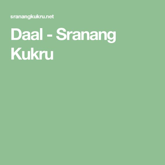 Daal - Sranang Kukru