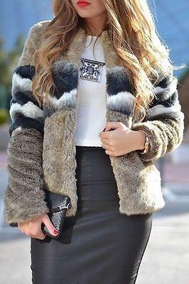 PULL-AND-BEAR-ZARA-BRAND-CONTRASTING-FAUX-FUR-CROPPED-COAT-JACKET-new-season