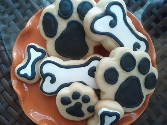 Dog Gone It Dog Bone and Paws Sugar Cookies