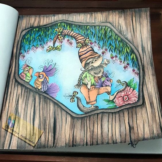 Gnomes In The Neighborhood Denyse Klette Materia Coloring Books
