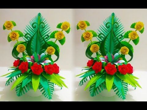 How To Make Paper Flower Bouquet Easy Paper Flowers Bouquet Ll