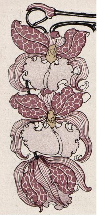 Jugend magazine flower ornament by Gertrud Kleinhempel, 1898: