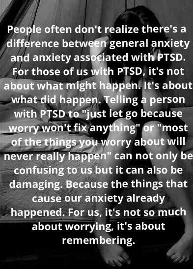 PTSD  Anxiety A PART OF OUR CULTURE..FOR SOME TIME, TIME TO DEAL WITH IT, MAYBE FINALLY, LISTEN TO THE PATIENTS, ALWAYS A GOOD START/