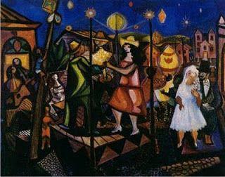 """""""Festa de São João"""" - Cândido Portinari Pintor brasileiro (1903-1962) DE ARTE EM ARTE : PINTURAS DE FESTAS JUNINAS E A PINTURA NAIF BRASILEIRA"""