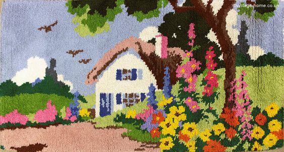 Vintage Home - Thatched Cottage and Garden Handmade Rug: www.vintage-home.co.uk