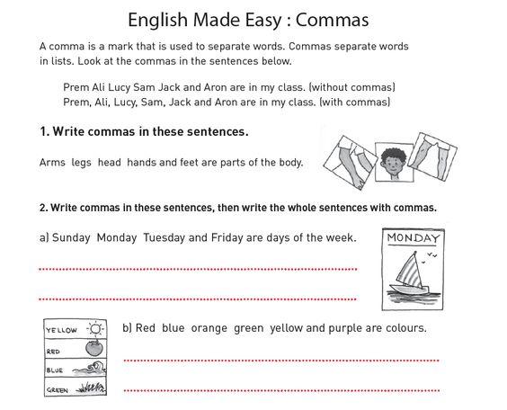 Carol Vorderman Printable Commas Activity Sheet - kids can ...