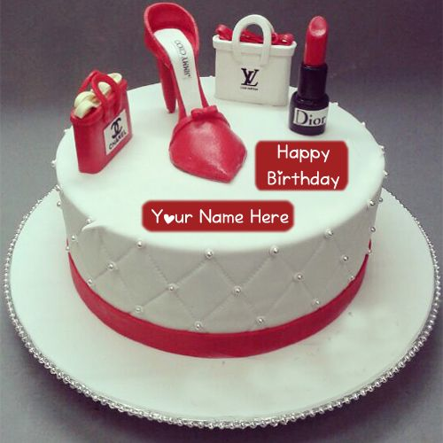 Fashion Birthday Cake Girlfriend Name Wishes Pictures Unique