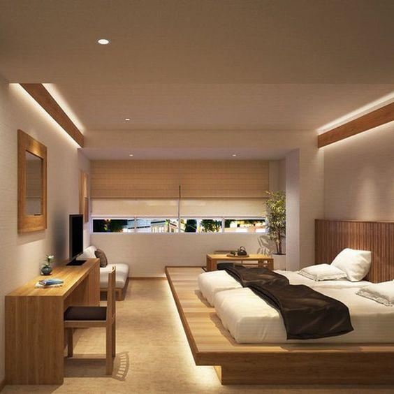 寝室 間接照明例