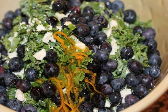 ... blueberries kale quinoa salad feta salad feta quinoa salad recipe