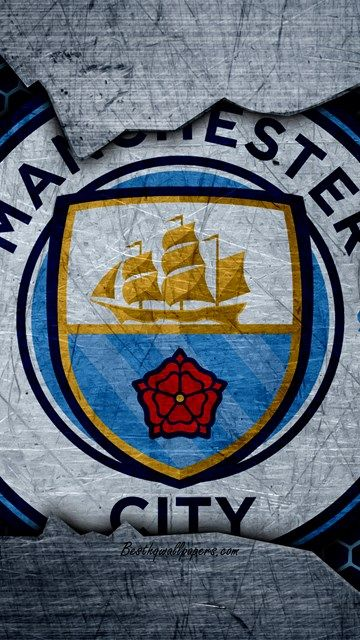 Manchester City 4k Football Premier League England Emblem Logo Football Club Ma Manchester City Wallpaper Manchester City Manchester City Football Club