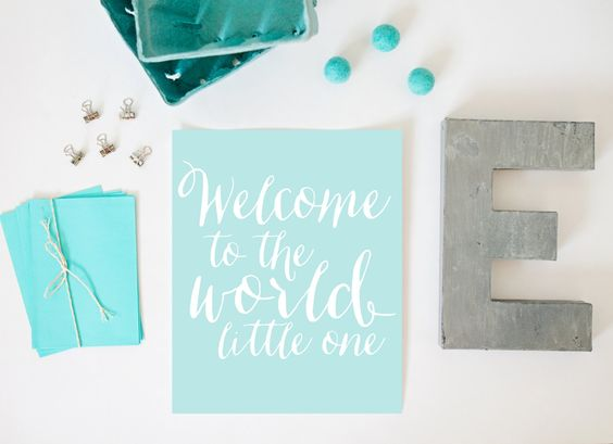 Welcome to the World Little One Print Nursery by alexazdesign