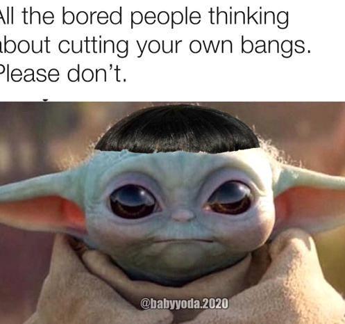 Baby Yoda One On Instagram If You Cant Rock This Look Rock Beats Scissors Please Follow Funny Star Wars Memes Yoda Meme Yoda Wallpaper