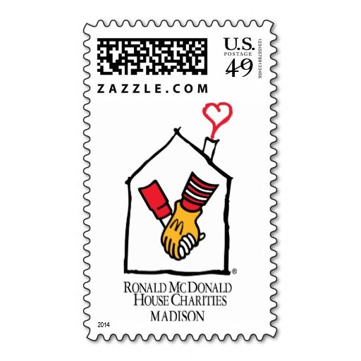 Ronald McDonald Hands Postage Stamp. Make your own business card with this great design. All you need is to add your info to this template. Click the image to try it out!