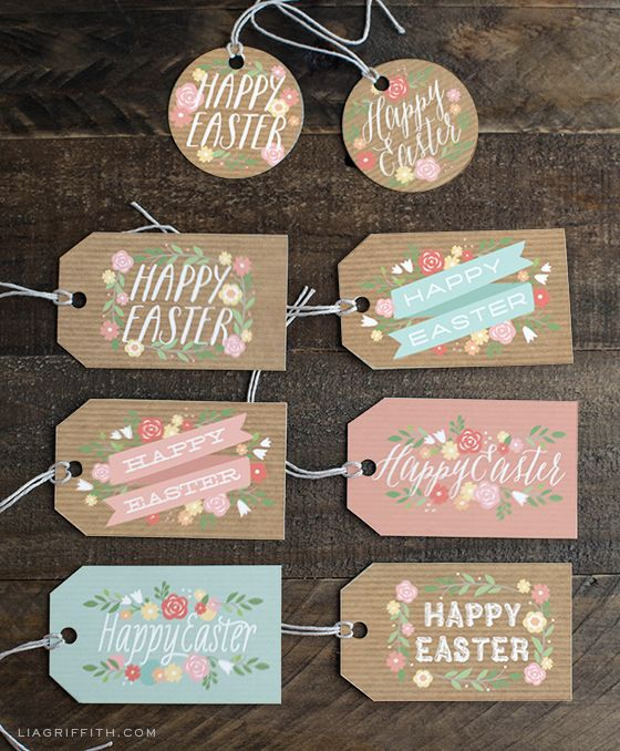 Pretty Easter Gift Tags and Gift Wrap for You to Print