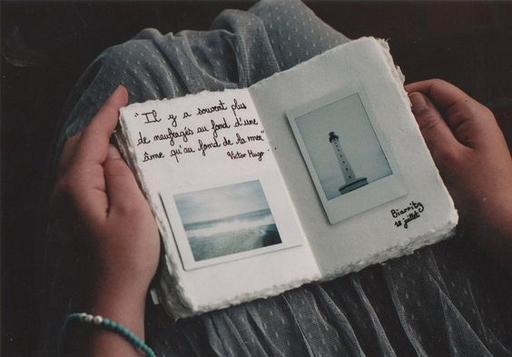 I love  seeing hand writing in a journal, with fun doodles and pictures taped in from using a polaroid camera. It adds such an authentic feel.