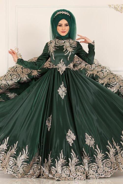 Modaselvim Abiye Gold Gupur Ve Payetli Abiye Ygs6189 Zumrut The Dress Payet Elbise Elbiseler