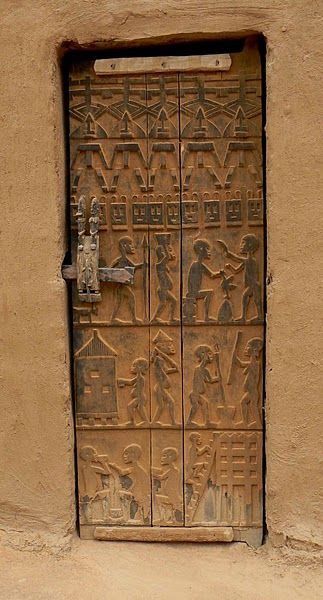 Porte d'entrée, Mali peuple Dogon.