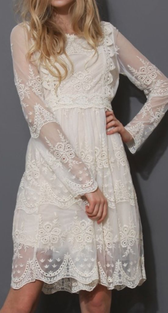 Boho lace...I would totally get married in this.