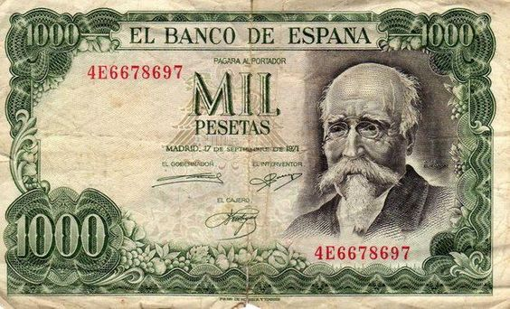 Mil Pesetas - España 1971
