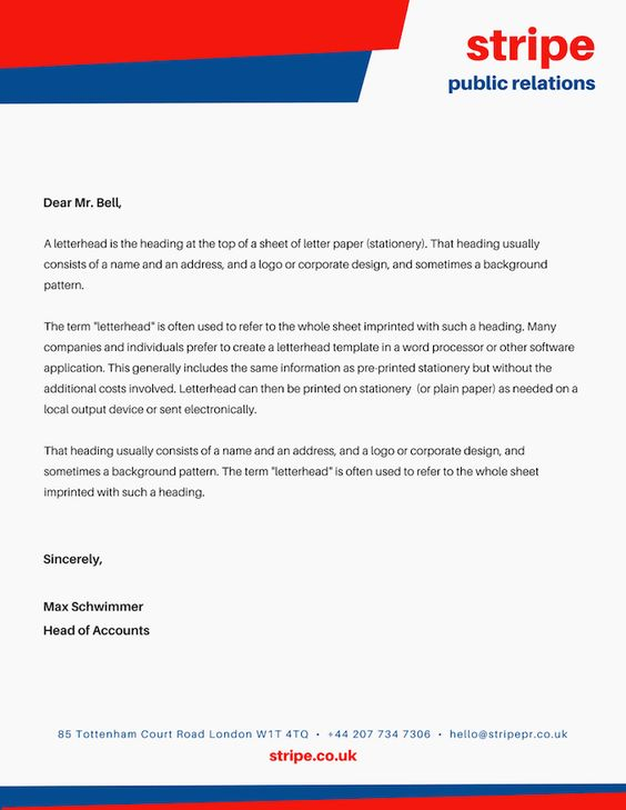 Business Letterheads Free Amp Premium Letterhead Templates