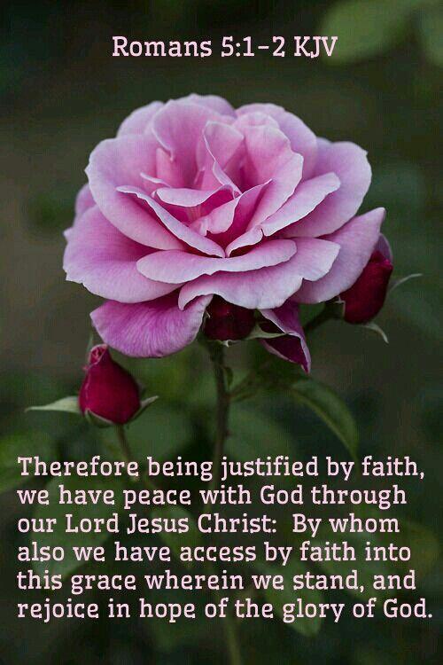 Romans 5:1-2 KJV:
