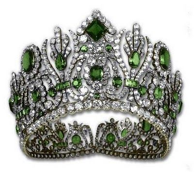 Emerald tiara of Empress Marie Louise of France