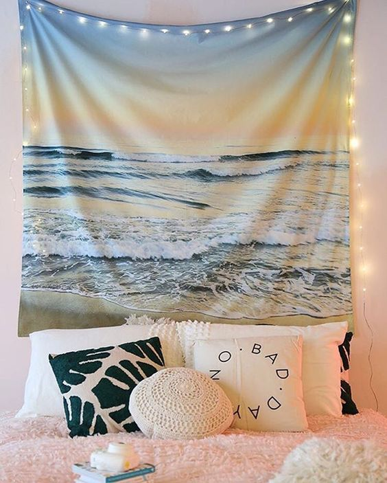 Beachy dorm room decor will make you feel right at home!