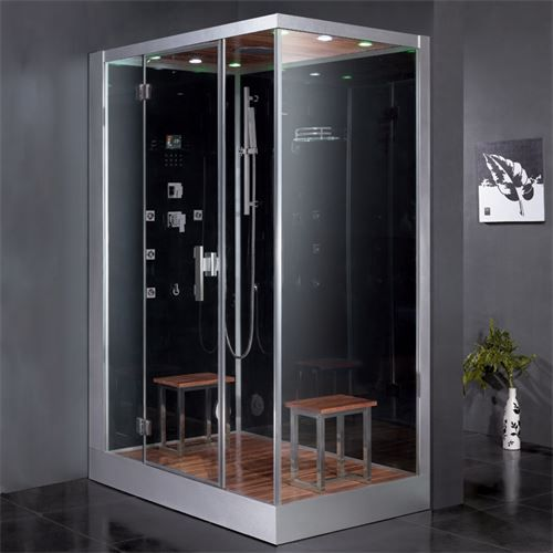 Ariel Platinum Dz961f8 L Steam Shower 59x35 4x89 2 In 2020 Steam Shower Enclosure Shower Enclosure Steam Shower Units