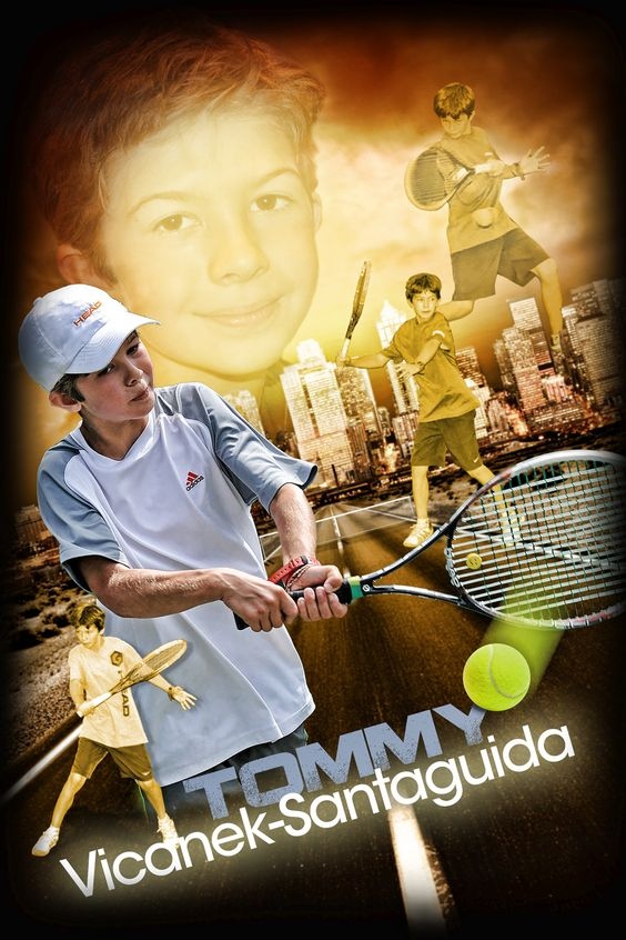 Custom tennis sports poster created from your photos. View and order yours at http://anythingphotos.com/projects/photos/sports