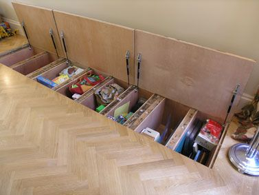 Hidden storage the floor and floors on pinterest for Cool hidden compartments