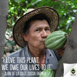 Cocoa farmers can build better lives for their families when you choose #FairTrade.