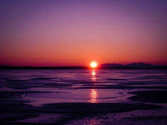 Wintery Vermont Sunset