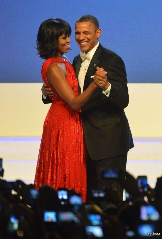 El deslumbrante vestido rojo de Michelle Obama