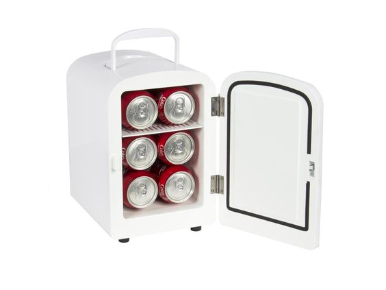 Portable Mini Fridge Cooler and Warmer Auto Car Boat Home Office AC & DC White-Newegg.com