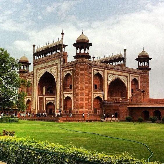 The Tomb of Akbar the Great, Sikandra Agra, Uttar Pradesh, India.