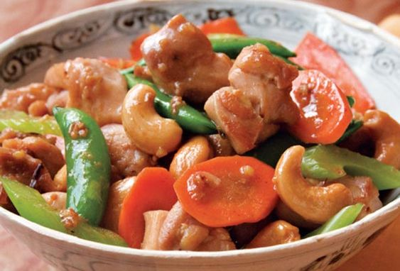 Chicken Stir-Fry (This is Grace Young's cashew chicken recipe, but I ...