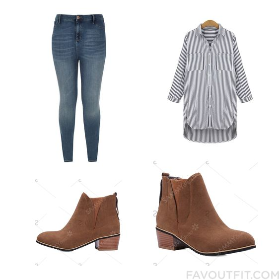 Fashion Post Featuring River Island Leggings Long Shirt Ankle Booties And Short Boots From September 2016 #outfit #look