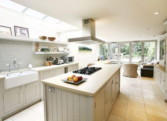 Kitchen Design Victorian Terraced House london borough of islington in islington, greater london, side